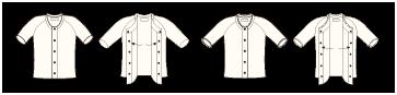 スタンダードなタイプのワンタッチ肌着<前開き5分袖>