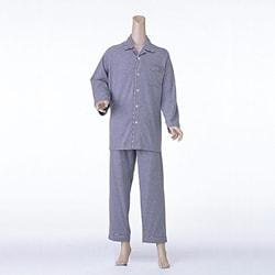紳士楽らくパジャマ  無地タイプ マジック式(飾りボタン付) (ズホンは通常タイプ)