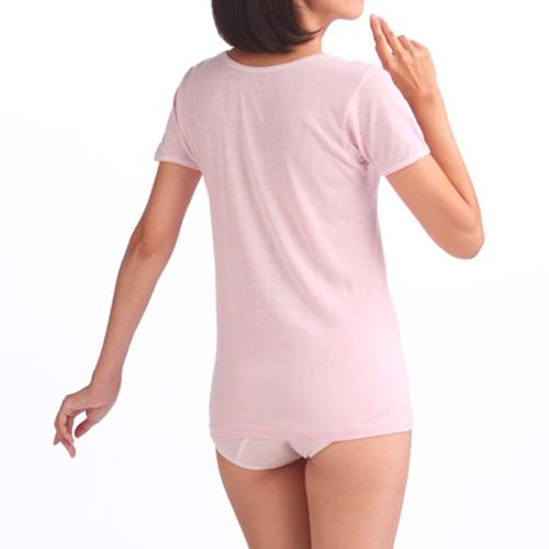 シルクノイル肌着 3分袖スリーマ— シルク100% 日本製