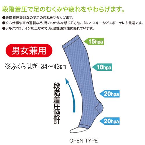 着圧機能サポーター シルクプロテイン加工 2枚入   日本製