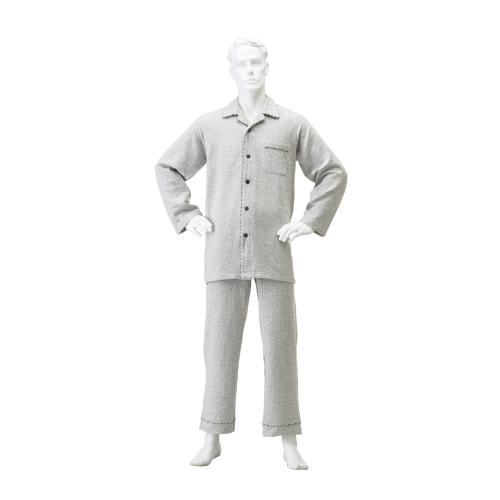 紳士楽らくキルトパジャマ 上下セット(冬用)マジック式