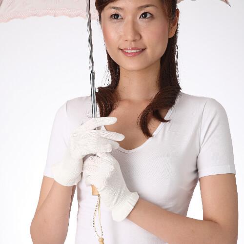 シルクUVカット手袋 日本製