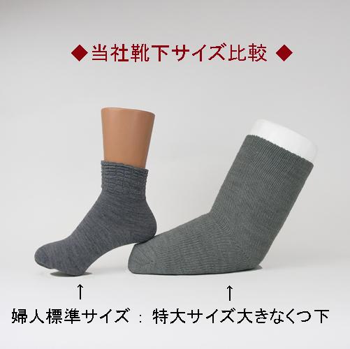 コベス・超ゆったりくつ下 特大サイズ 大きな靴下(むくみ用) <婦人> 【秋冬用】