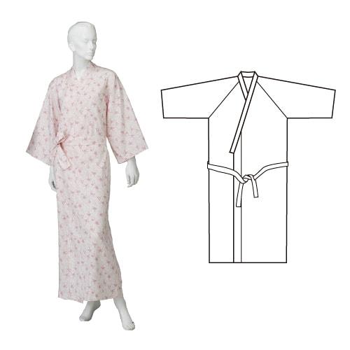 婦人カラーガーゼねまき ひば抗菌加工 乾燥機可 日本製