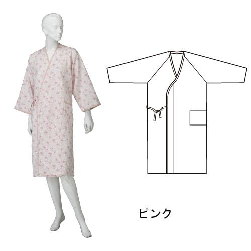 婦人カラーガーゼ合わせ (湯上り) ひば抗菌加工 乾燥機可 日本製