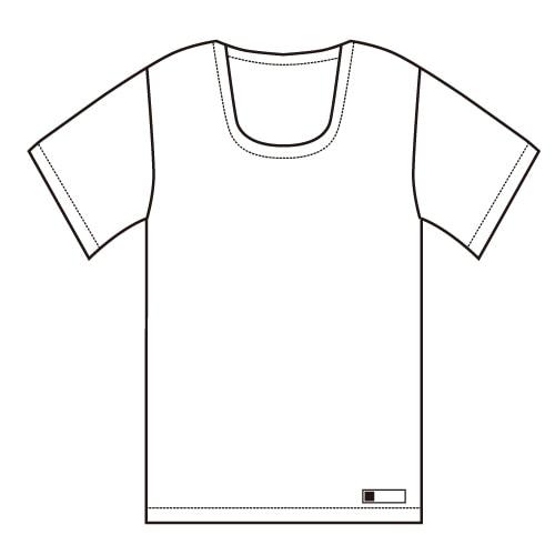U首半袖肌着<共用>  大きいサイズ 日本製