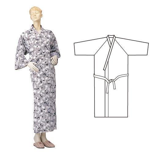 婦人ガーゼねまき ひば抗菌加工 乾燥機可 日本製
