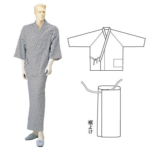 紳士セパレートガーゼねまき ひば抗菌加工 乾燥機可 日本製