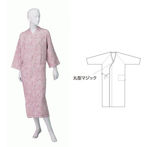 婦人ニットキルトねまき ロングタイプ マジック付 秋冬用 日本製