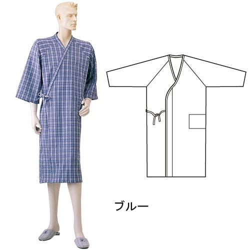 紳士ニットキルトねまき合わせ (湯上り) 秋冬用 日本製