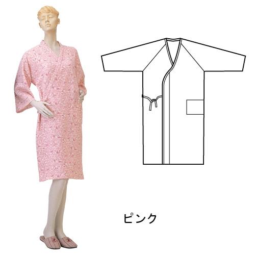 婦人ニットキルトねまき合わせ (湯上り) 秋冬用 日本製